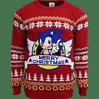 NUMSKULL Sonic the Hedgehog Xmas Pullover L Pullover, Mehrfarbig