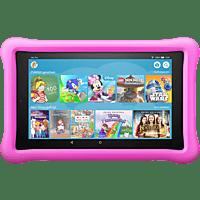 AMAZON Fire HD 8 Kids Edition, Tablet , 32 GB, 8 Zoll, Schwarz mit pinke kindgerechte Hülle