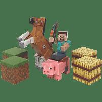 AMS Minecraft Pferde und Co. Pack Sammelfigur, Mehrfarbig