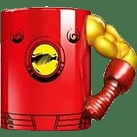 AMS Iron Man Tasse Torso Arm Tasse, Mehrfarbig