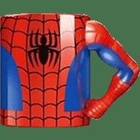 AMS Spiderman Tasse Torso Arm Tasse, Mehrfarbig