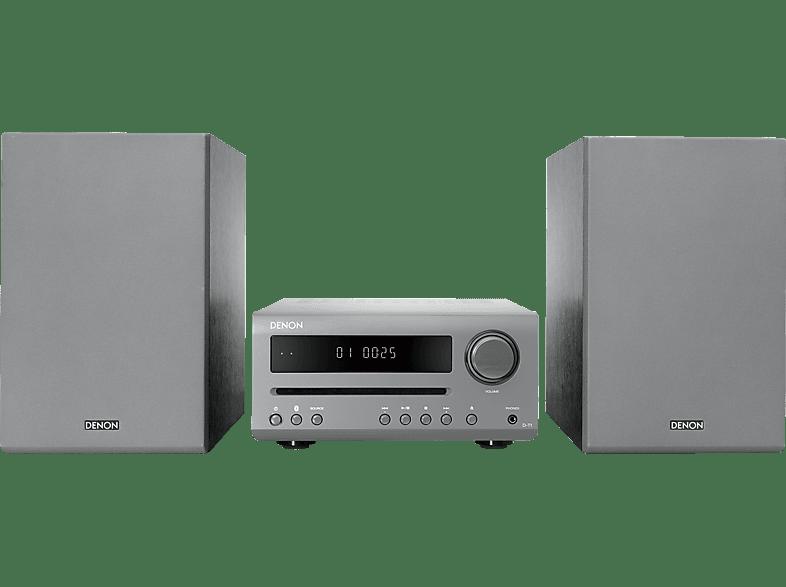 DENON D-T1 Kompaktanlage (CD, CD-R/RW, WM, MP3, Grau)