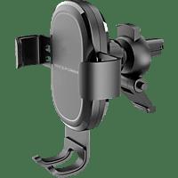 REALPOWER FreeCharge-10 Car, KFZ-Smartphone-Halterung mit kabelloser Ladefunktion, Schwarz