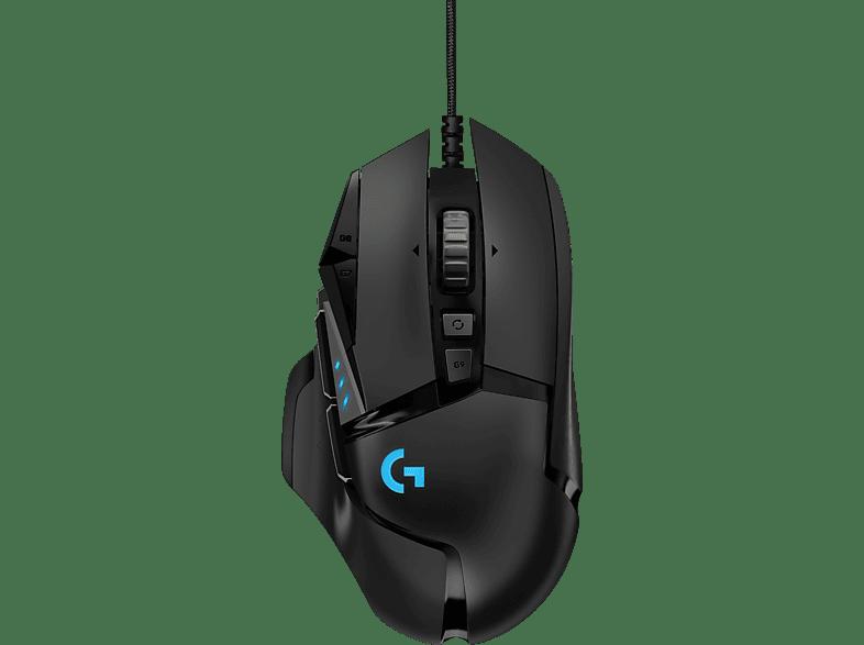 LOGITECH G502 HERO 16K Gaming Maus, Schwarz
