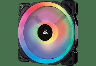 CORSAIR LL120 mit doppelter RGB-Lichtschleife LED Gehäuselüfter, Schwarz/Mehrfarbig