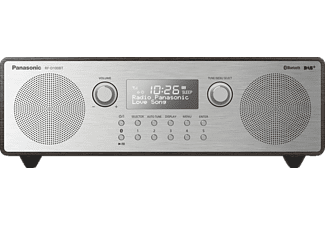 PANASONIC RF-D100BT DAB+ Radio mit Bluetooth, DAB+ Tuner/ Analog Tuner, FM, DAB+, Bluetooth, Silber/ holzbraun