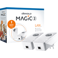 Powerline Adapter DEVOLO devolo 8260 Magic 2 LAN 1-1-2 Starter Kit Powerline 2400 kbit/s kabelgebunden