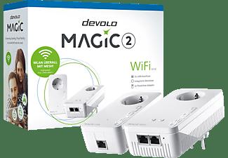 DEVOLO 8383 Magic 2 WiFi 2-1-2 Starter Kit Powerline Powerline Adapter 2400 Mbit/s Kabellos und Kabelgebunden