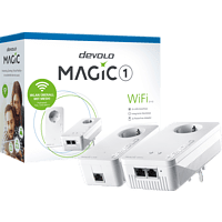 Powerline Adapter DEVOLO devolo 8359 Magic 1 WiFi 2-1-2 Starter Kit Powerline 1200 Mbit/s Kabellos und Kabelgebunden