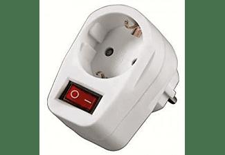 Ladrón Enchufe - Hama Socket Adapter, commutable, 1salida, AC 230V, Blanco