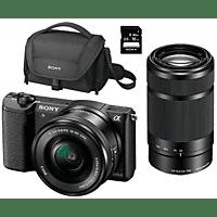 Pack Cámara EVIL - Sony ILCE 5100L, 24.3MP, CMOS, Full HD, Wi-Fi + E PZ 16-50mm + E 55-210mm
