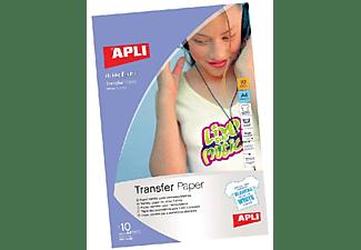 Apli Papel Transfer Para Camisetas BlancasTamaño A - 4 Presentada En Carpeta Apli  4128 , Blanco