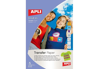 Apli Papel Transfer - Apli 102475 Hojas, Inyección De Tinta Camiseta Serigrafía