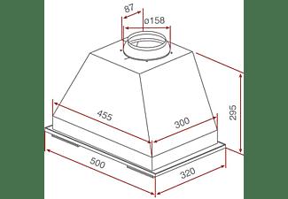 Campana - Teka 40446300 GFT INOX Grupo filtrante integrable 50cm de Ancho, 359 m3/h, 3 Velocidades