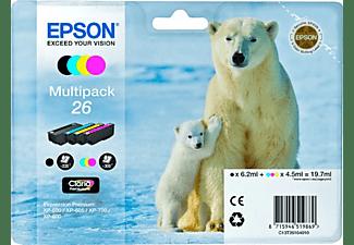 Pack 4 cartuchos de tinta - Multipack Epson 26, negro, cian, amarillo y magenta