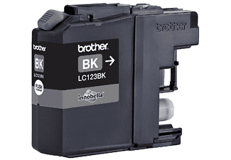Brother LC123BK - Cartucho de impresión - Alto rendimiento - 1 x negro - 600 páginas - blíster