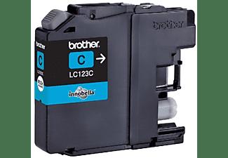 Brother LC123C - Cartucho de impresión - Alto rendimiento - 1 x cián - 600 páginas - blíster