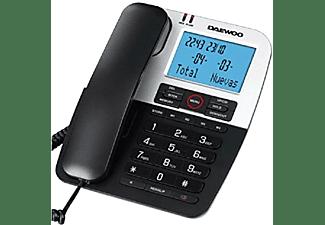 Teléfono - Daewoo DTC 410, Manos libres, Pantalla retroiluminada, Agenda, Negro