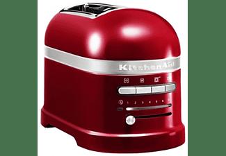 Tostadora - KitchenAid 5KMT2204 ECA, 1250W, Capacidad para 4 tostadas, 7 niveles, Rojo manzana