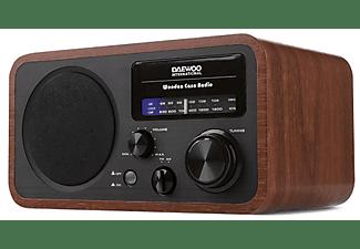 Radio portátil - Daewoo DRP-134, AM/FM, Altavoz, 4W, Madera