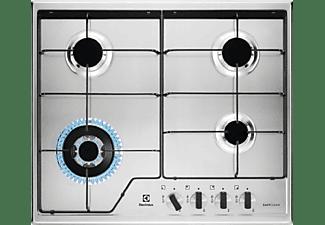 Encimera - Electrolux KGS6434X, Acero inoxidable, Gas, 4 quemadores, 60 cm, Inox Antihuellas
