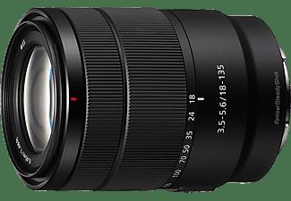 Objetivo EVIL - Sony E 18-135mm f/3.5-5.6 OSS, Negro
