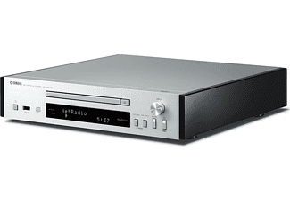 Microcadena - Yamaha MCR-N670D, MusicCast, 2 altavoces, Lector CD, USB, DAB+, Bluetooth, Plata y