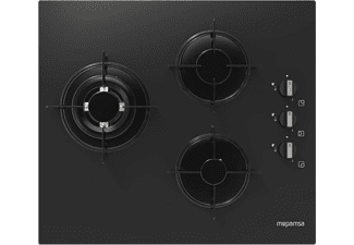 Encimera - Mepamsa MH 603, Vitrocerámica, Gas, 3 quemadores