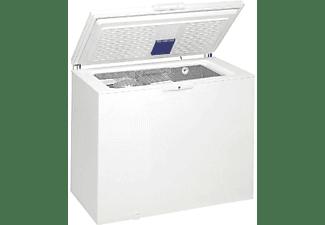 Congelador horizontal - Whirlpool WHE2535 FO, Capacidad 251 litros, 2 compartimentos, Blanco