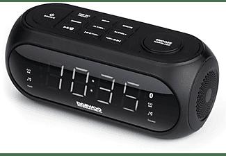 Radio despertador - Daewoo DCR-460, FM, Bluetooth, Pantalla LED, Alarma Dual, USB, Negro