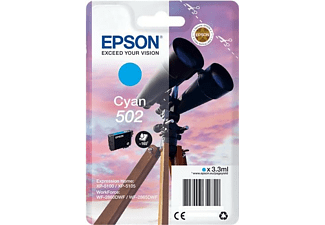 Cartucho de tinta - Epson 502, 3.3ml, 165páginas, Cian