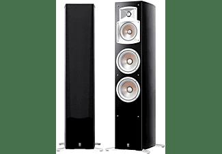 Torre de sonido estéreo - Yamaha NS 555, 100W, Cableado interno Monster Cable, Negro