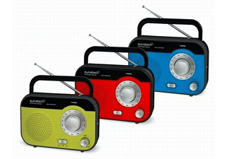 SUNSTECH Radio portátil - Sunstech RPS560 RD Verde, Sintonizador AM/FM, Pila y red