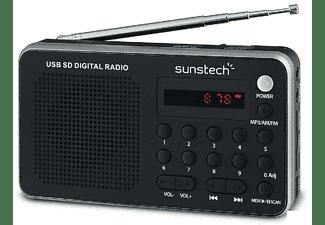 Radio portátil - Sunstech RPDS32 SL, AM/FM, USB, Plata