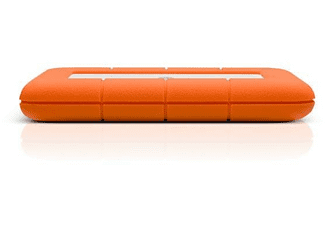 Disco duro 2 TB - LaCie Rugged Mini, USB-A 3.0 (3.1 Gen 1), Aluminio, Naranja