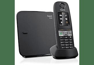 Teléfono - Gigaset E630, manos libres, agenda, pantalla iluminada, negro