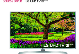 "TV LED 50"" - LG 50UK6950PLB, UHD 4K 3xHDR, AI Smart TV ThinQ webOS 4.0, Sonido DTS-X"