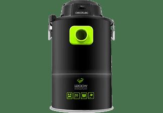 Aspirador de cenizas - Cecotec Conga PowerAsh 1200, Deposito 20L, 1200W, 75dB, Negro