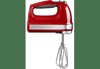 Amasadora - KitchenAid 5KHM9212, 9 velocidades, antideslizante, acero inoxidable, roja