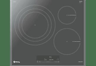 Encimera - Balay 3EB967AU, Inducción, 3 zonas, Zona gigante 32 cm, Función programación, Gris