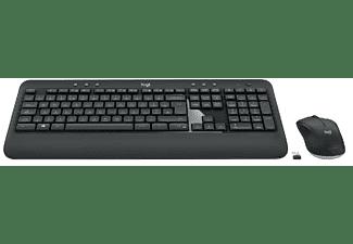 Pack Teclado + Ratón - Logitech MK540 Advanced, Inalámbrico, Bluetooth, USB, Negro