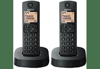 Teléfono - Panasonic KX-TGC312SPB Duo, Inalámbrico, 50 contactos, Pantalla LCD, Bloqueo de llamadas, Negro