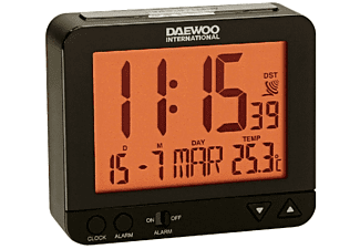 Despertador - Daewoo DCD 200 B, Repetición de alarma, Panel LCD, Negro