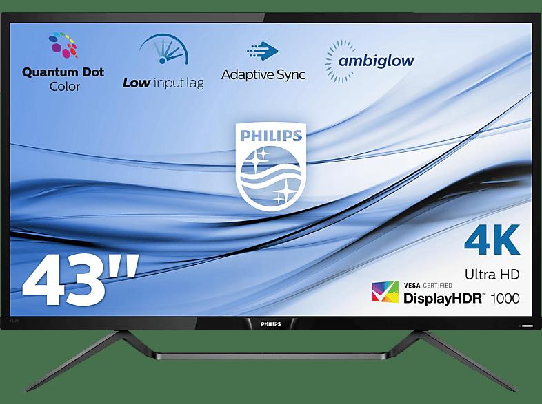 PHILIPS 436M6VBPAB/00 42.51 Zoll UHD 4K Monitor (4 ms Reaktionszeit, FreeSync, 60 Hz)