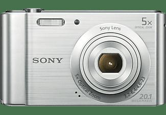 Cámara - Sony Cyber-shot DSC-W800S, Sensor CCD, 20.1 MP, Gran angular 26mm, Zoom óptico 5X, Plata