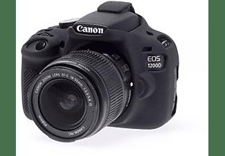 Funda Silicona - EasyCover para Canon 1200D, Negro