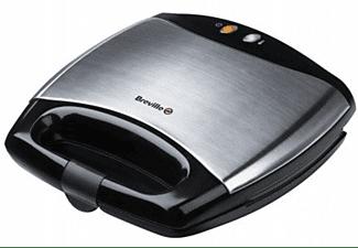 Sandwichera - Breville VST051X, Potencia 750W, Acabado Inox, Placas antihaderente aptas Lavavajillas