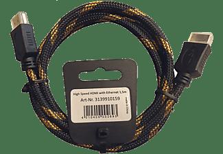 INAKUSTIK HDMI Kabel Eagle 2.0, gold/schwarz 1.5m