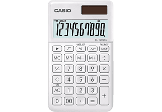 Calculadora - Casio SL-1000SC, Corrección rápida, Memoria, Blanco