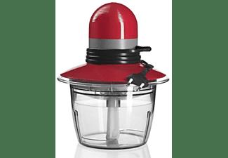 Picadora - Bosch MMR 08 R, Potencia 400W, Cuchilla universal de acero inoxidable, Recogecables, Rojo